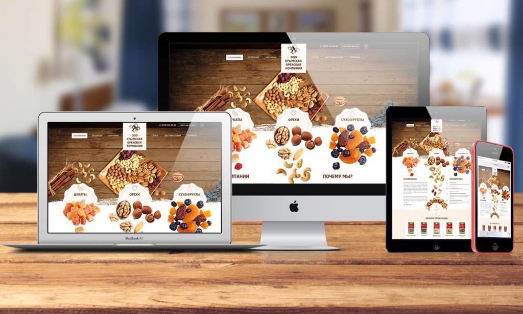 сайт крымской ореховой компании