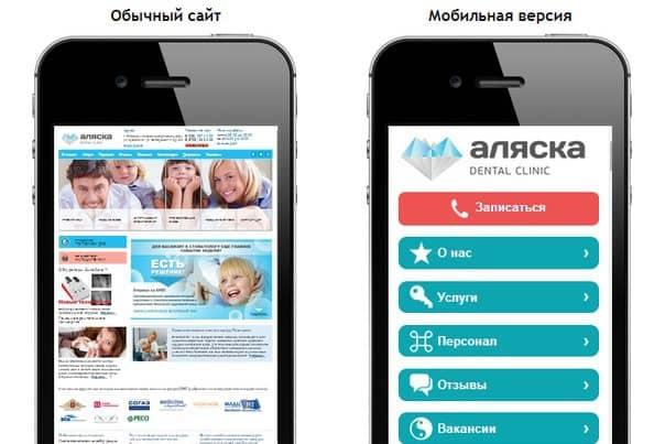 Мобильную версия сайта как сделать