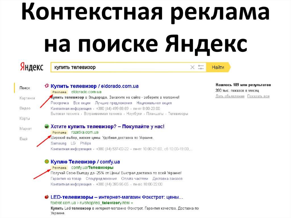 реклама Яндекс заказать
